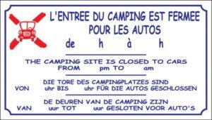 L'entrée du camping est fermée pour les autos