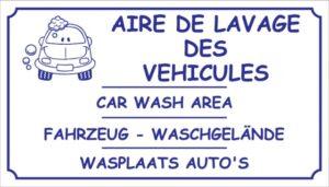 Aire de lavage des véhicules