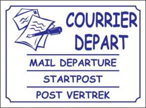 Courrier départ