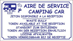Aire de service camping-car + jeton