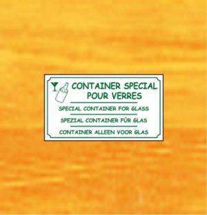 Container spécial verre