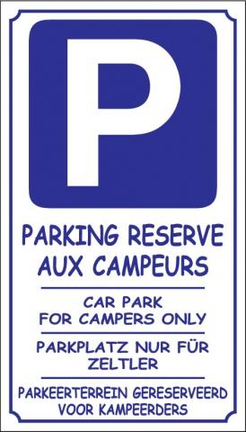Parking réservé aux campeurs
