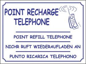 Point recharge téléphone
