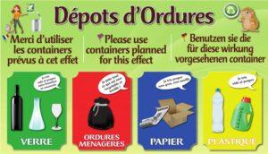 Dépot d'ordures avec tri sélectif