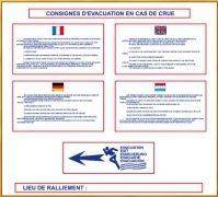 Consignes d'évacuation en cas de crue