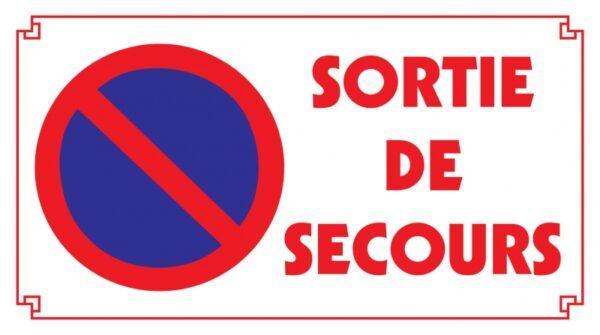 Stationnement Interdit Sortie de Secours