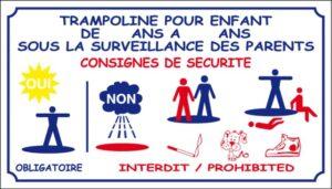 Règlement trampoline -Consigne de sécurité