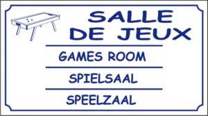 Salle de jeux logo billard