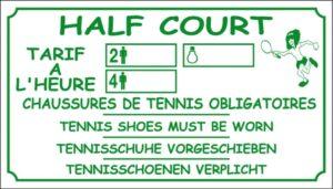 Half court + tarif