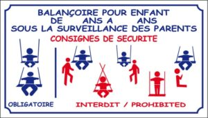 Balançoire pour enfants sous la surveillance des parents - Consignes de sécurité