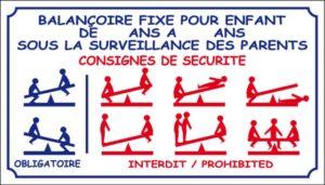 Balançoire fixe pour enfants sous la surveillance des parents - Consignes de sécurité