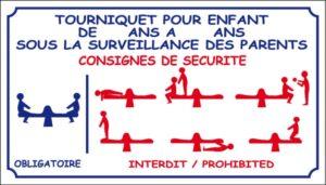 Tourniquet - consigne de sécurité