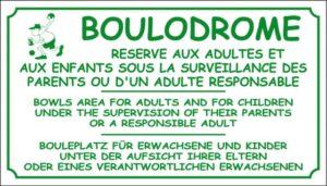 Boulodrome + logo homme