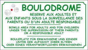 Boulodrome + logo boule