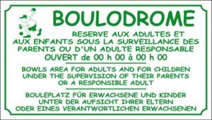 Boulodrome + horaires d'ouverture
