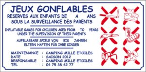 Jeux gonflables + maintenance