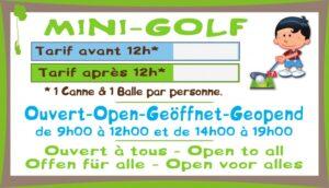 Mini-golf + tarif