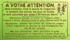 Boulodrome - A votre attention Amis boulistes