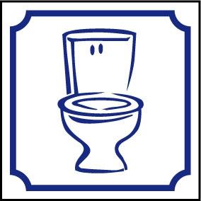 Sanitaires Logo WC cuvette