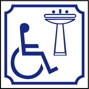 Logo lavabo handicapé