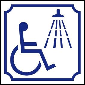 Logo douche handicapé