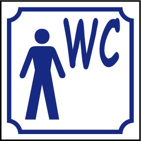 Logo WC homme