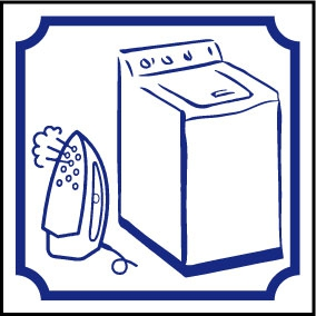Logo machine à laver + fer à repasser