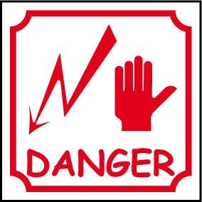 Logo danger électrique