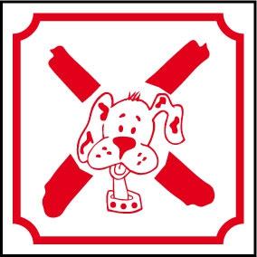Logo chien interdit
