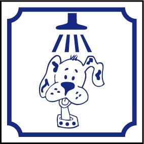 Logo douche chien