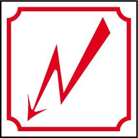 Logo danger électrique éclair