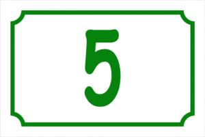 Numéro mobil-home avec cadre