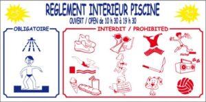 Règlement intérieur piscine + horaires