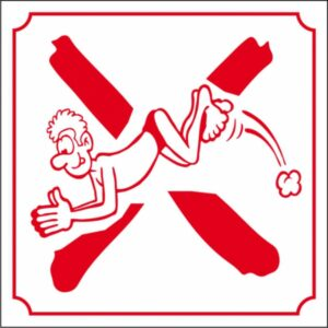 Interdit de plonger (logo)