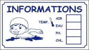 Informations température/chlore/Ph (petit modèle)