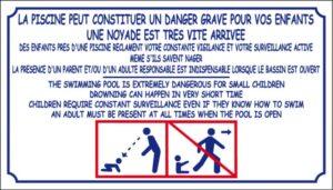 La piscine peut constituer un danger grave - noyade