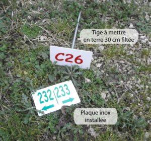 Plaque numéros ras de sol
