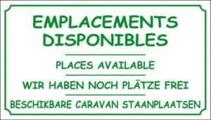Emplacements disponibles