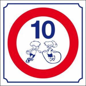 Logo 10 km/h (petit modèle)