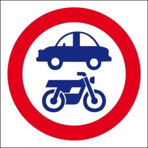 Interdit de circuler voiture / moto