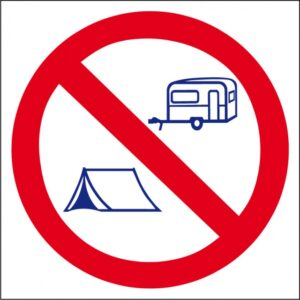 Interdit tente / caravane logo