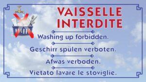 Vaisselle interdite
