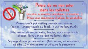 Ne rien jeter dans les toilettes