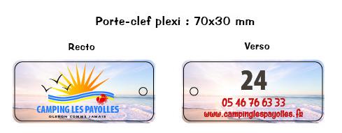 EBCD Signalétique Camping - porte clefs plexi - Payolles 2019