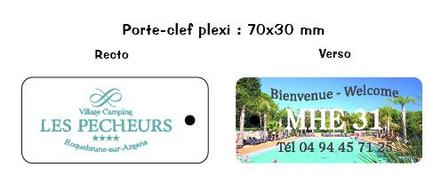 EBCD Signalétique Camping - porte clefs plexi - Pecheurs 2019
