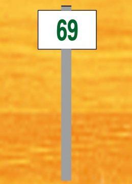 Piquet rigide pour numérotation simple