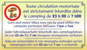 Circulation motorisée strictement interdite