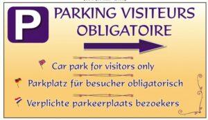Parking visiteur obligatoire + flèche