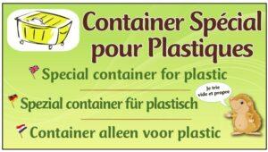 Container spécial plastiques