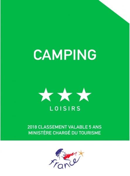 """Plaque de reclassement """"Panonceau officiel"""" Camping Loisirs"""